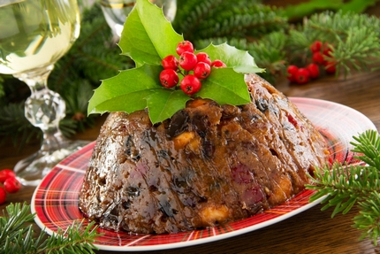 plum pudding Christmas